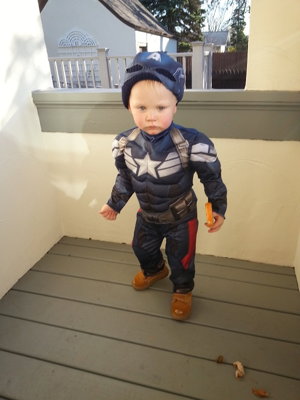 Captain America made an encore appearance on All Hallow's Eve.