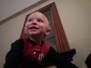 One of the smiles I could catch on film. The rest of them are usually lost in a blur of giggling.