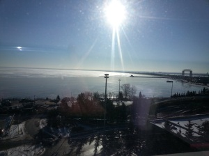 Duluth Harbor this morning.