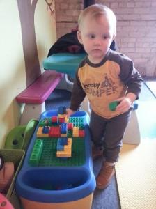 Naturally, their cache of Legos, Duplos, and Mega Bloks won the favorite spot.