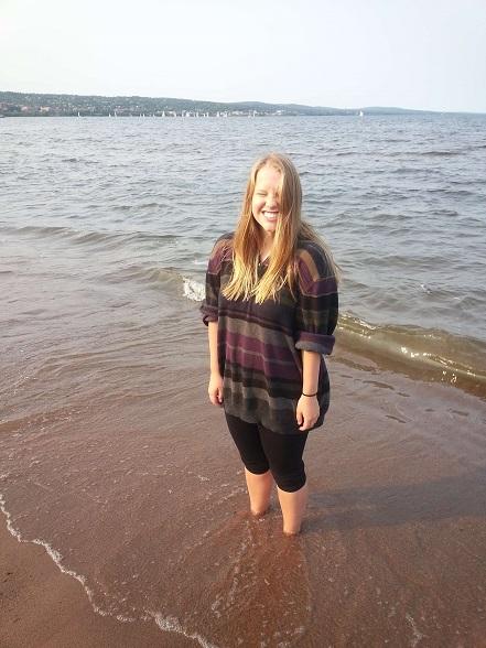 Aunt Mikki on the beach