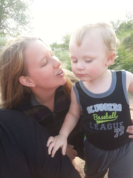 There's been a whole lot of this poor kid getting his face kissed on!