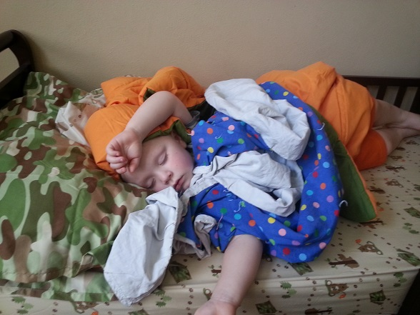 But then they look like this when they're sleeping, and you forget the weird and the gross and the exasperating. Mostly.