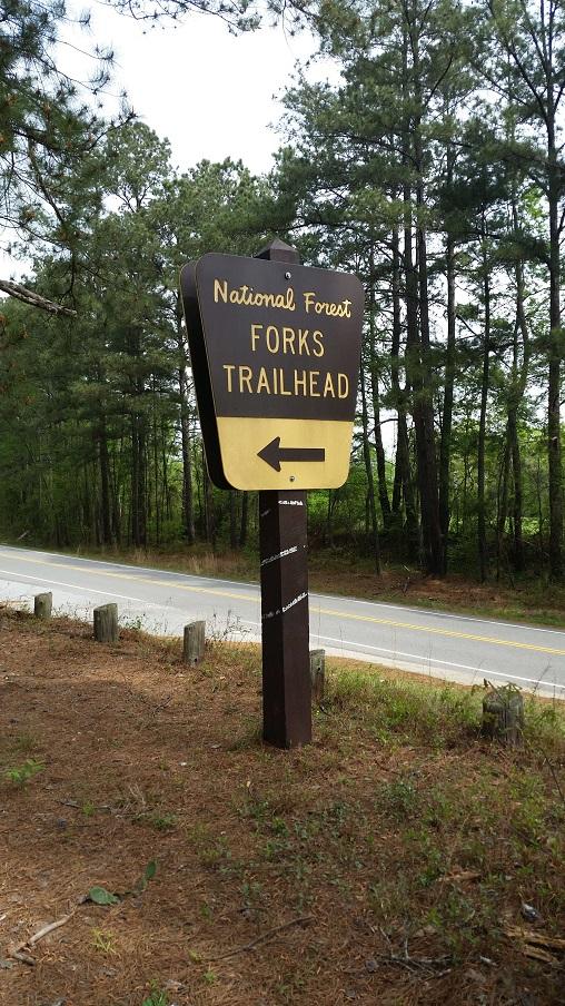 Forks Trailhead sign